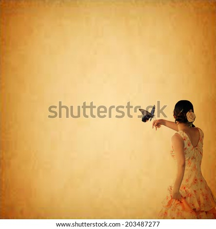 Dance girl for adv or others purpose use - stock photo