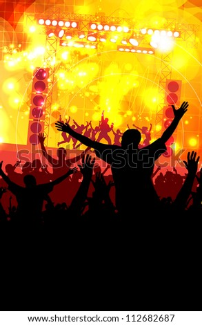 Dance party - stock photo
