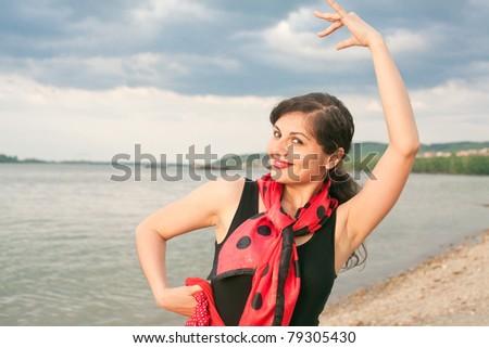 dance pose - stock photo