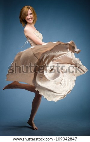 Dancer girl.  Buyer's feedback is really important to me. Also, I'd love to see your design with it! Thanks. - stock photo