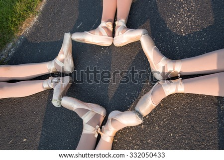 Dancers in The Park - stock photo