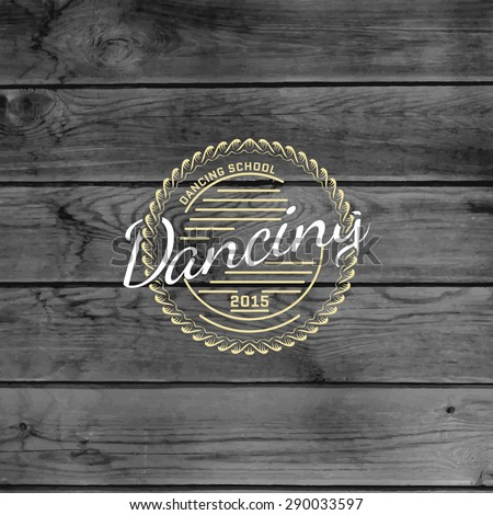 Dancing badges logos and labels for any use.  - stock photo
