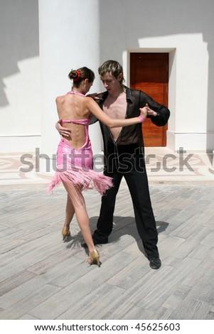 Dancing couple - stock photo