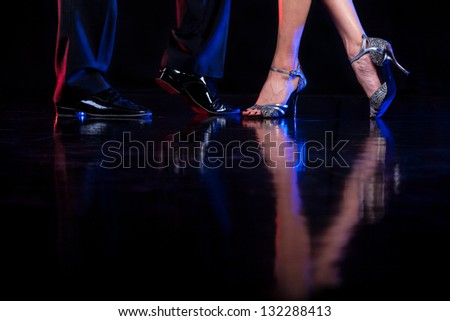 Dancing feet. - stock photo
