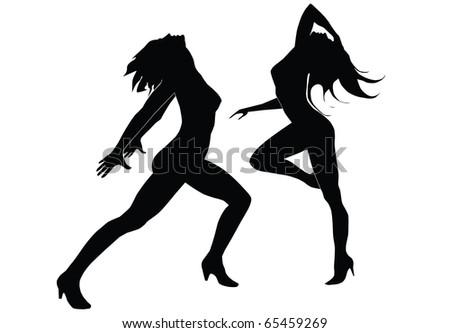 Dancing gils - stock photo
