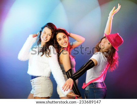 dancing girls - stock photo