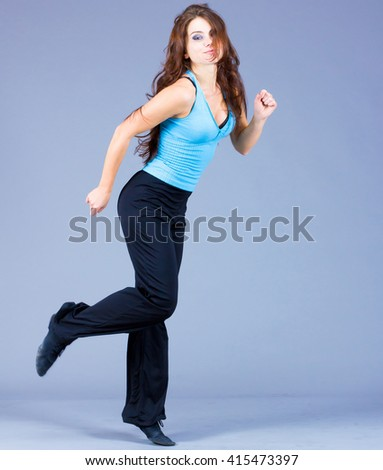 Dancing Happiness Female  - stock photo