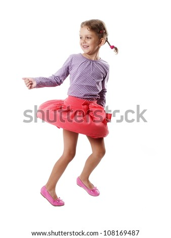 Dancing little girl - stock photo