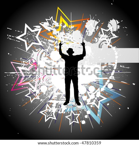 Dancing man - stock photo