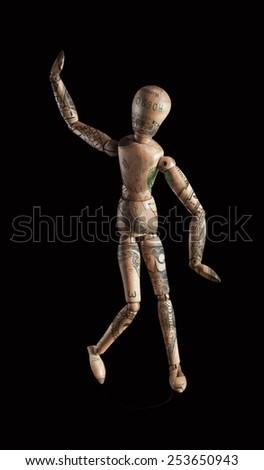 dancing money sculpture  - stock photo