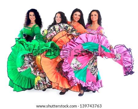 Dancing Roma. - stock photo