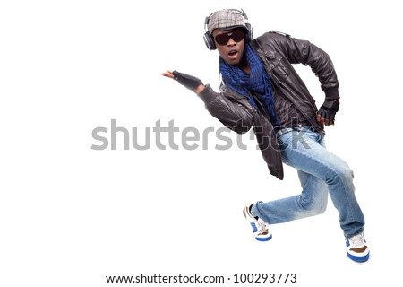 Dancing to the music - stock photo