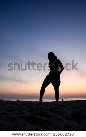 Dancing with the sun. - stock photo