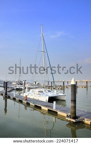 Danga Bay is the largest recreational park in the city of Johor Bahru, Johor, Malaysia.  - stock photo