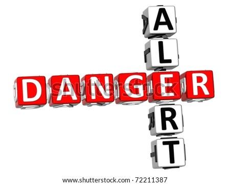 Danger Alert Crossword - stock photo