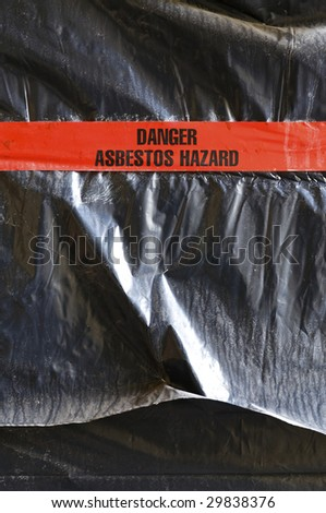 Danger Asbestos Hazard - stock photo