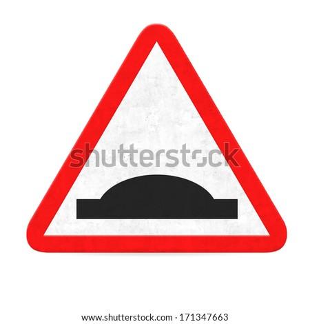 danger bump road sign - stock photo