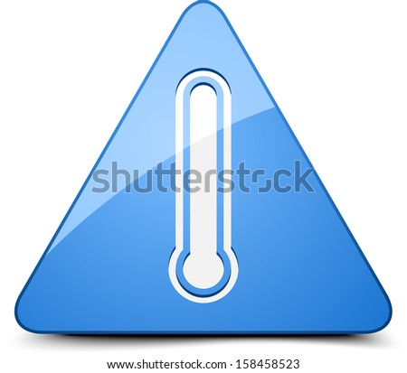 Danger Cold temperature sign - stock photo