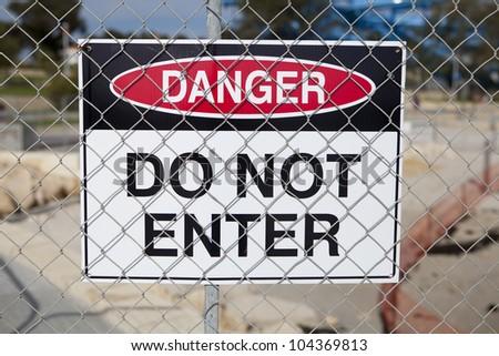 Danger do not enter sign - stock photo