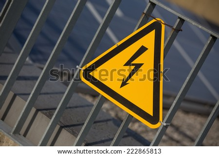 danger electricity sign - stock photo