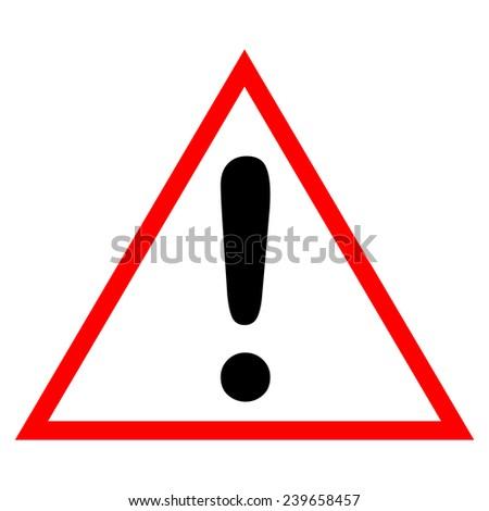 Danger Sign Board on White Background - stock photo