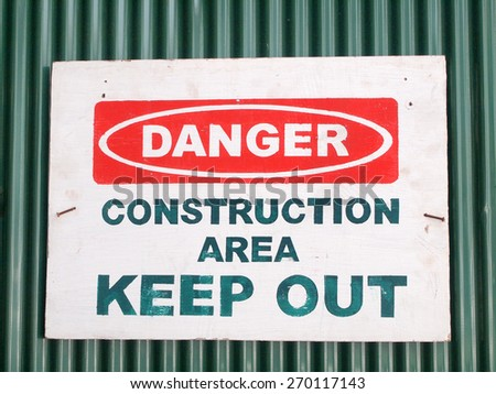 Danger sign, warning background - stock photo