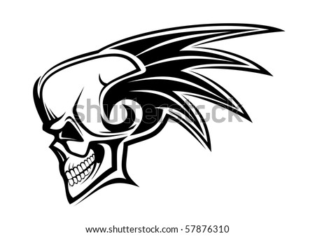 Danger skull as a warning - also as emblem or logo template. Vector version also available - stock photo