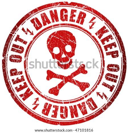 Danger stamp - stock photo