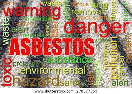 Dangerous asbestos roof concept image - stock photo