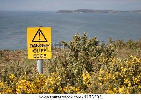 dangerous cliffs - stock photo