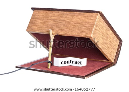 dangerous contract. box is installed in the form of the trap. - stock photo