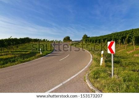 Dangerous curve - stock photo