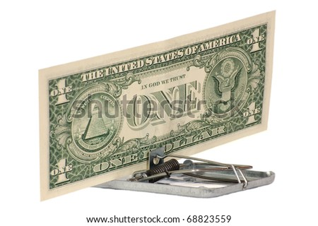 Dangerous dollar - stock photo