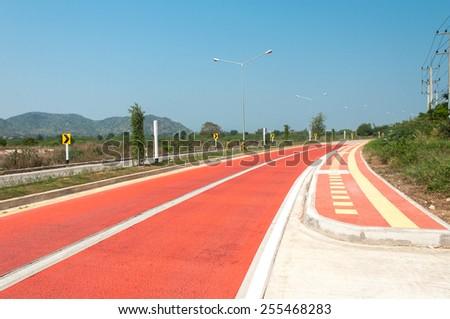 Dangerous road curves - stock photo