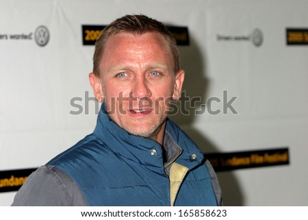 Daniel Craig arrives for the 2005 SUNDANCE FILM FESTIVAL premiere of THE JACKET at the Eccles Center Theatre, January 23 2005 in Park City, Utah, - stock photo