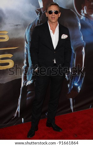 "Daniel Craig at the ""Cowboys & Aliens"" World Premiere, San Diego Civic Theatre, San Diego, CA. 07-23-11 - stock photo"