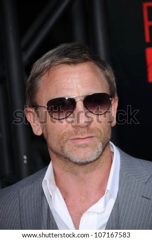 "Daniel Craig  at the Los Angeles Premiere of ""Pineapple Express"". Mann Village Theater, Westwood, CA. 07-31-08 - stock photo"