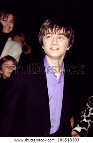 Daniel Radcliffe at premiere of HARRY POTTER & THE SORCERER'S STONE, NY 11/11/2001 - stock photo