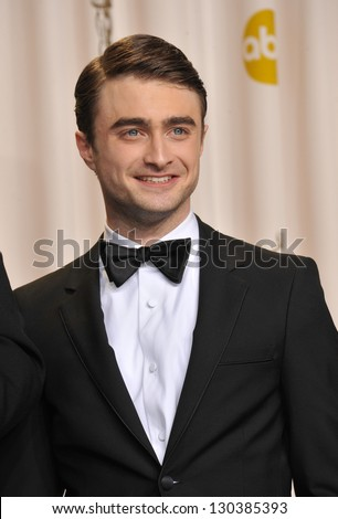 Daniel Radcliffe at the 85th Academy Awards at the Dolby Theatre, Los Angeles. February 24, 2013  Los Angeles, CA Picture: Paul Smith - stock photo