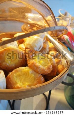 Danish Bake in the in the basket. - stock photo
