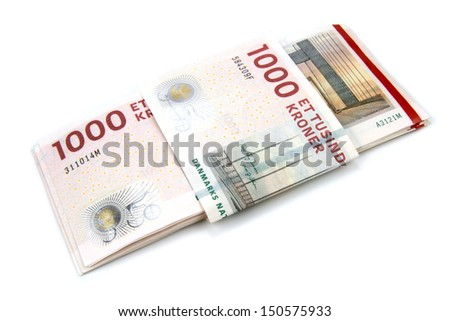 Danish krone ( 10x1000 DKK ) - stock photo