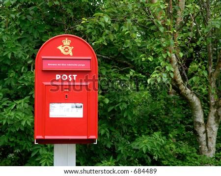 Danish mailbox - stock photo