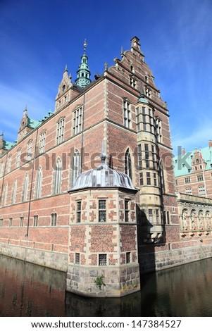 Danish Renaissance castle near Copenhagen - stock photo