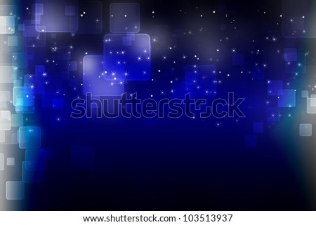 dark abstract background blue bokeh - stock photo
