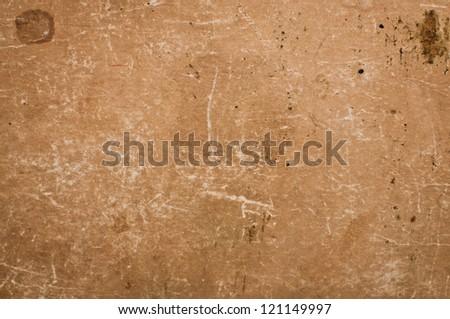 Dark aged yellowed vintage Paper texture background - stock photo