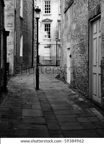 Dark Alley - stock photo