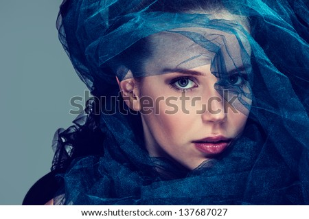 Dark beauty - stock photo