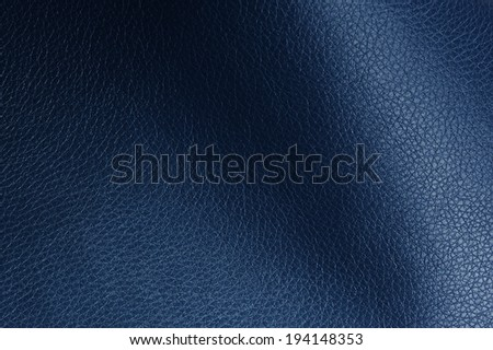 Dark Blue Artificial Leather Texture with Shadows - stock photo