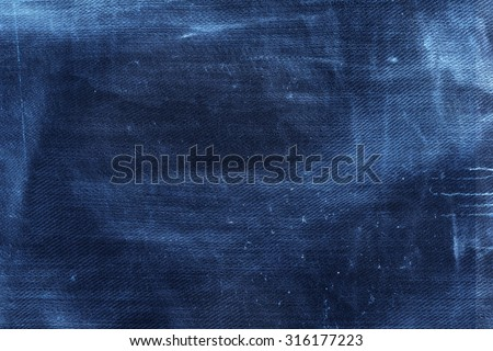 dark blue canvas texture grunge background, jeans texture - stock photo