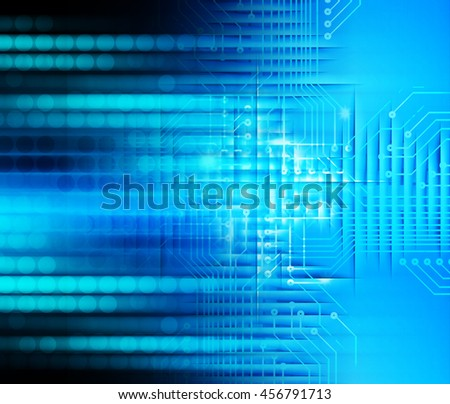 dark blue color Light Abstract Technology background for computer graphic website internet and business.circuit.illustration. abstract digital. infographics. motion move blur.neon. eye - stock photo